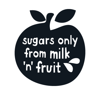 Sugars only from milk and fruit