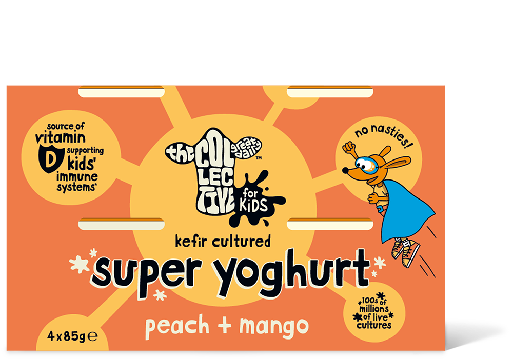 Peach + mango super yoghurt