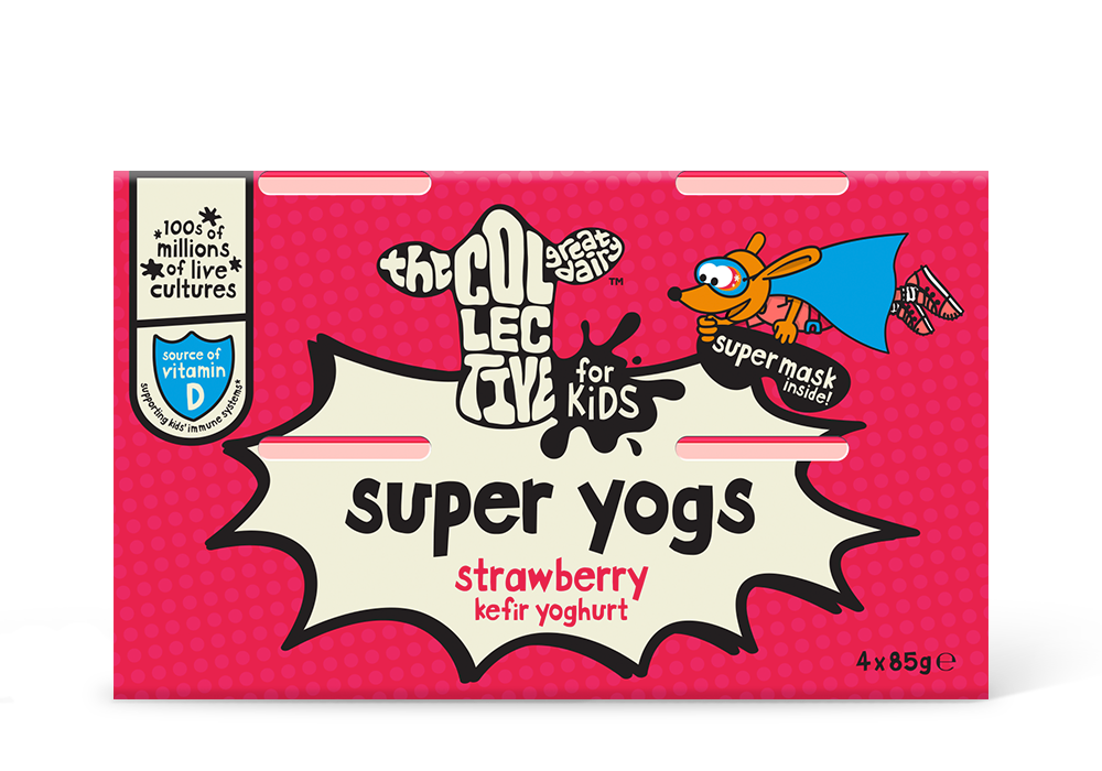 strawberry super yogs 4x85g