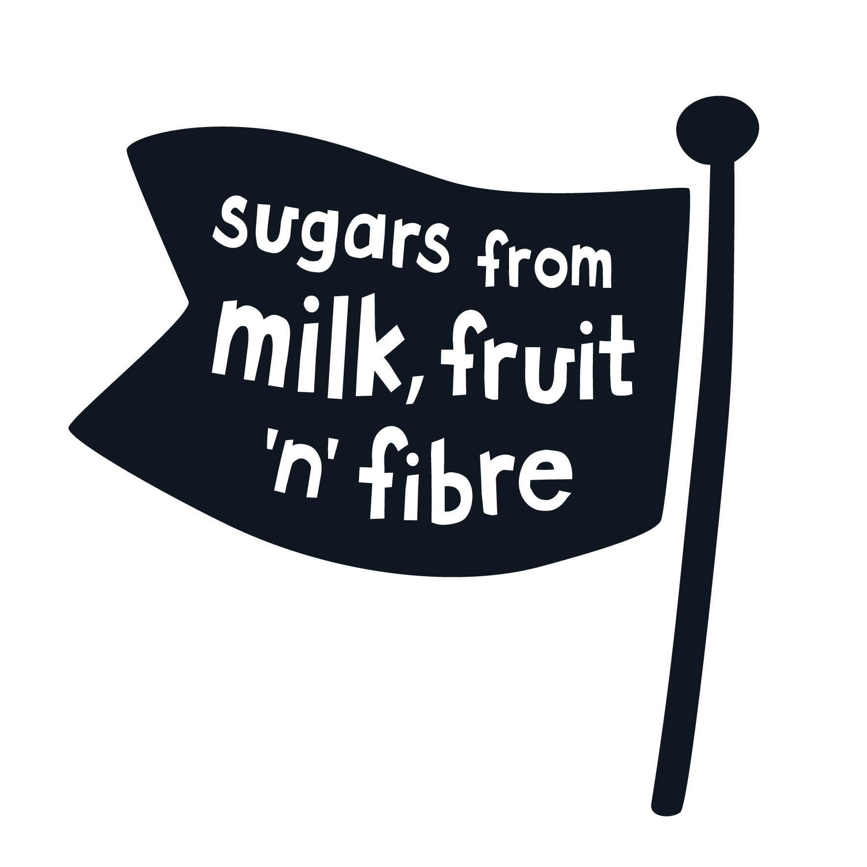 sugars from milk, fruit 'n' fibre